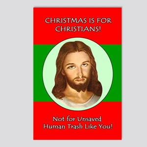 Christmas is For Christians Postcards (8 Pack)