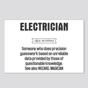 Funny Electrician Definit Postcards (Package of 8)