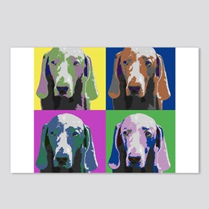 Weimaraner a la Warhol Postcards (Package of 8)