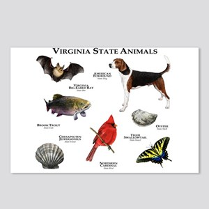 Virginia State Animals Postcards (Package of 8)