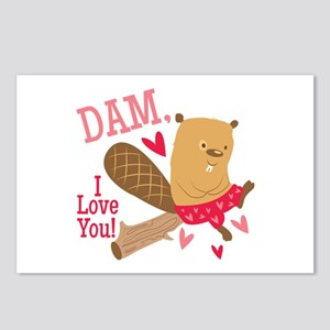 Dam I Love You Postcards (Package of 8)