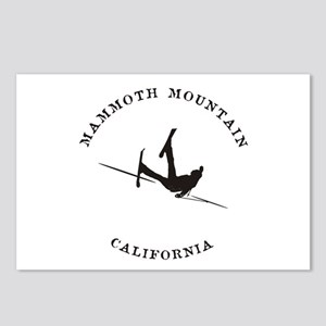 Mammoth Mountain Funny Falling Skier Postcards (Pa