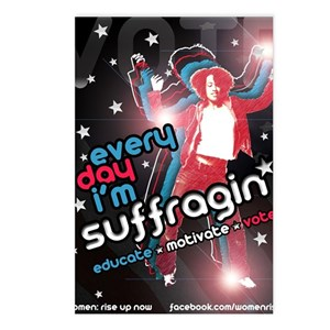 Every Day Im Suffragin Postcards (Package of 8)