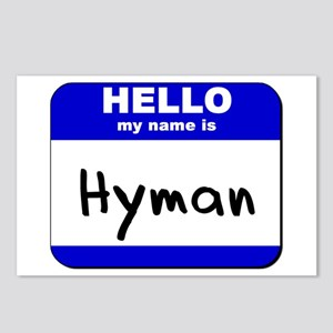 hello my name is hyman  Postcards (Package of 8)