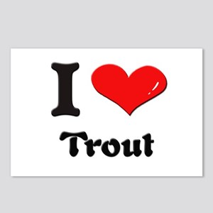 I love trout  Postcards (Package of 8)