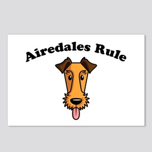 Airedales Rule Postcards (Package of 8)