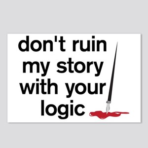 Dont ruin my story with y Postcards (Package of 8)