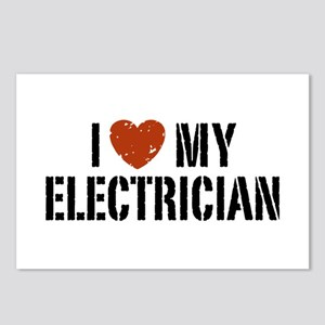 I Love My Electrician Postcards (Package of 8)