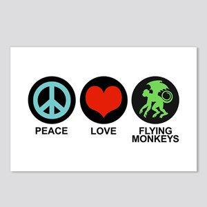 Peace Love Flying Monkeys Postcards (Package of 8)