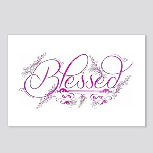 Blessed fuchsia flourish Postcards (Package of 8)