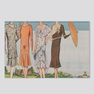 1920s Summer Fashions Postcards (Package of 8)