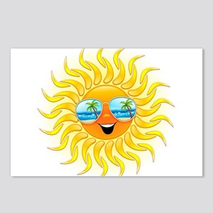 Summer Sun Cartoon with Sunglasses Postcards (Pack
