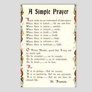 St Francis Prayer Postcards - CafePress