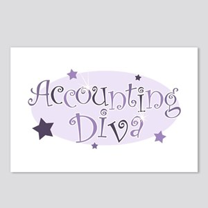 Accounting Diva [purple] Postcards (Package of 8)