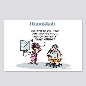 Hanukkah Festival Postcards (package Of 8)