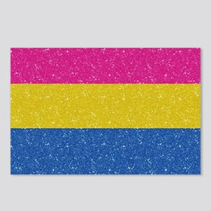 Glitter Pansexual Pride F Postcards (Package of 8)