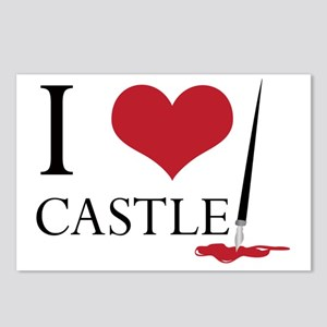 I Heart Castle Postcards (Package of 8)
