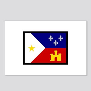 FLAG OF ACADIANA Postcards (Package of 8)