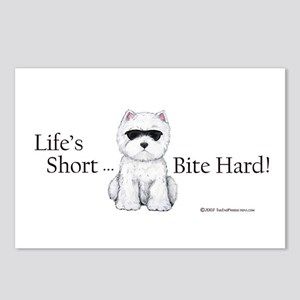Life's Short Westie Postcards (Package of 8)