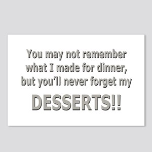 DESSERTS!! Postcards (Package of 8)