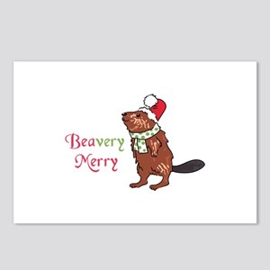 Beavery Merry Postcards (Package of 8)