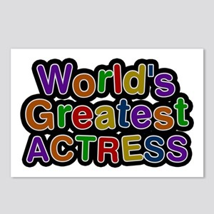 World's Greatest ACTRESS Postcards 8 Pack