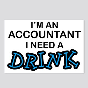 Accountant Need a Drink Postcards (Package of 8)