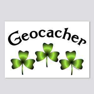 Geocacher 3 Shamrocks Postcards (Package of 8)