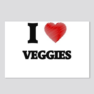I love Veggies Postcards (Package of 8)