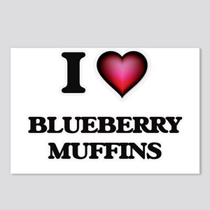I love Blueberry Muffins Postcards (Package of 8)
