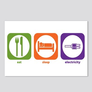 Eat Sleep Electricity Postcards (Package of 8)