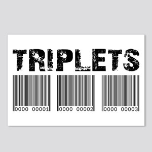 Triplets Barcodes Postcards (Package of 8)