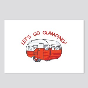 LETS GO GLAMPING Postcards (Package of 8)
