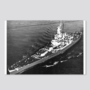 Big Mamie BB 59 Ships Image Postcards (Pk of 8)