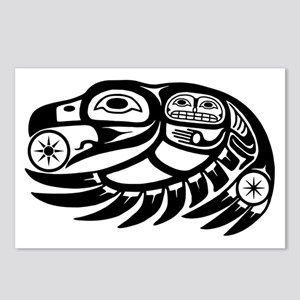 Native American Raven Sun Postcards (Package of 8)