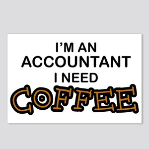 Accountant Need Coffee Postcards (Package of 8)