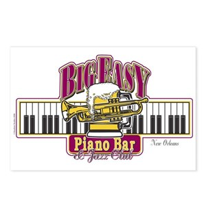 Big Easy Piano bar Postcards (Package of 8)