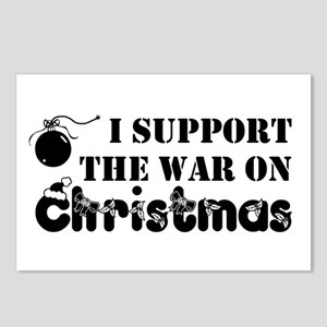 War On Christmas Postcards (Package of 8)