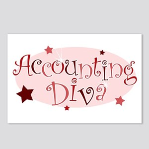 """Accounting Diva"" [red] Postcards (Package of 8)"