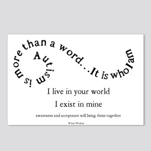 Autism ~ Two worlds Postcards (Package of 8)