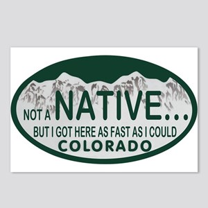 Not a Native Colo License Plate Postcards (Package