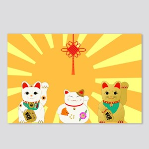 Chinese Lucky Cat Postcards - CafePress