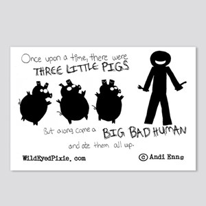 Wild Eyed Pixie - 3Pigs Postcards (Package of 8)