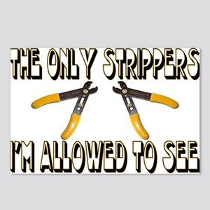 Only Strippers Postcards (Package of 8)