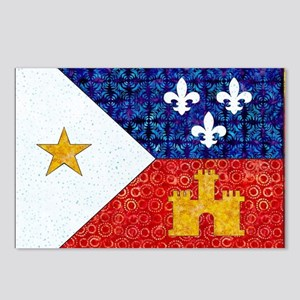 AcadianFlagBright Postcards (Package of 8)