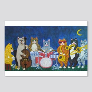 Salsa Cats at Night Postcards (Package of 8)