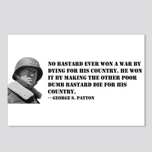 Patton Quote - Die Postcards (Package of 8)