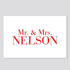 Mr Mrs NELSON-bod red Postcards (Package of 8)