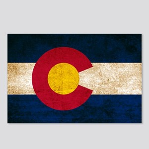 Vintage Flag of Colorado Postcards (Package of 8)