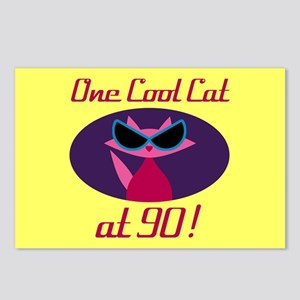 Cool Cat 90th Birthday Postcards (Package of 8)